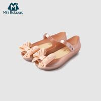 迷你巴拉巴拉女童蝴蝶结凉鞋夏季新款鞋子宝宝透气公主鞋单鞋
