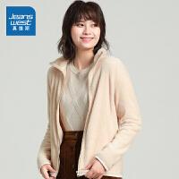 [到手价:75.9元】真维斯女装 秋季新款 时尚法兰绒立领外套