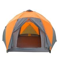户外大帐篷8-10人家庭野外露营蒙古包帐篷户外双层帐篷防蚊虫帐篷