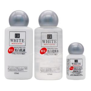 大创(DAISO)日本ER胎盘素嫩白三件套爽肤水精华液乳液套装