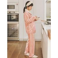月子服孕妇睡衣冬季加绒产后保暖哺乳睡衣秋冬喂奶家居服套装