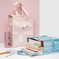 三年二班创意学生补习袋文件袋卡通小清新补课袋女生大容量手提袋