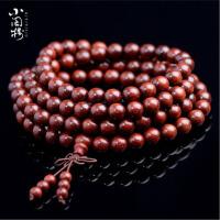 男女金星血檀项链小叶紫檀手串108佛珠手链