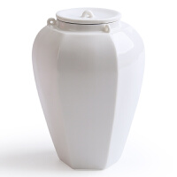 景德镇影青陶瓷茶叶罐 家用密封存茶罐异形普洱存储罐