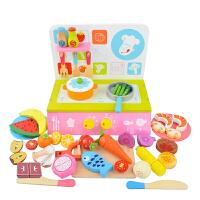切切乐看切水果蔬菜玩具木制磁性儿童过家家蛋糕女孩仿真厨房套装