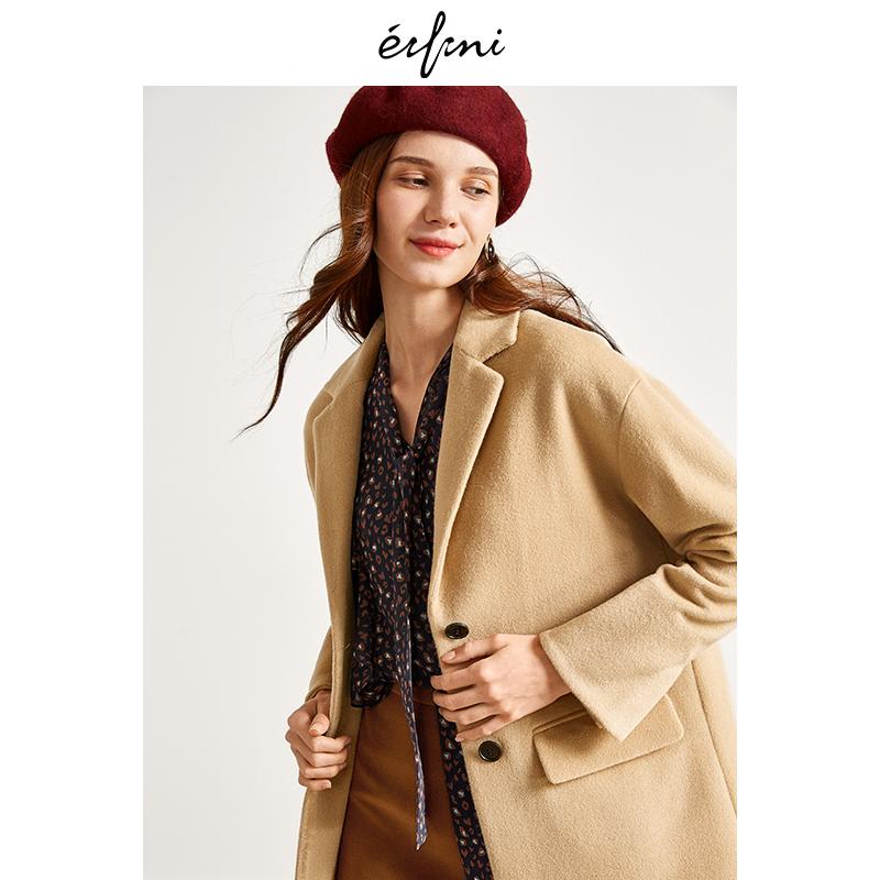 2件4折 伊芙丽冬装新款短款毛呢外套羊毛呢子大衣1189974182