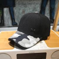 简约韩版黑白标棒球帽休闲百搭情侣帽子女鸭舌帽春夏潮人迷彩帽 M(56-58cm)