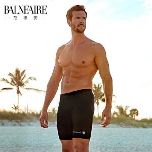 范德安男士泳裤 专业运动五分平角游泳裤 防晒泳衣男 大码沙滩裤