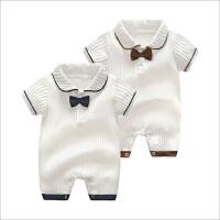 夏季婴儿连体衣短袖爬服男女宝宝衣服新生儿连身衣薄