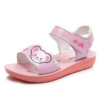 女童小熊凉鞋春季新款卡通女宝宝沙滩鞋学生童鞋
