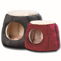 创意猫窝半封闭透气宠物窝深度睡眠猫房子冬窝保暖