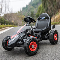 新款儿童电动卡丁车双驱双电可坐人摩托车四轮儿童电动车男女宝宝玩具车充气轮遥控汽车自驾童车