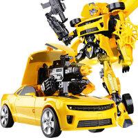 变形玩具金刚5大黄蜂变身汽车机器人加大恐龙模型正版儿童男孩