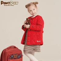 【3件2折 到手�r:180】Pawinpaw��英��卡通小熊童�b冬季款女童外套娃娃�I�和�棉服保暖