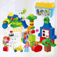 积木拼装大颗粒积木拼插塑料男女孩儿童玩具1-2-3-6周岁