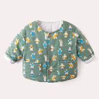 冬季婴儿棉衣冬季保暖儿童棉袄男女童冬装加厚1-3岁宝宝夹棉外套秋冬新款