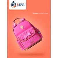 小学生书包女童儿童书包可爱护脊双肩背包公主蝴蝶结