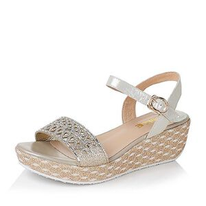 Belle/百丽夏专柜同款布纹羊皮革/人造革女凉鞋Q1X1DBL6