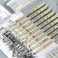 日本进口樱花防水勾线笔针管笔手绘笔樱花牌樱花笔学生用漫画笔描边专用美术动漫设计画图绘图笔简笔画笔套装