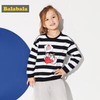 巴拉巴拉童装女童长袖T恤儿童春秋2018新款小童宝宝休闲套头卫衣