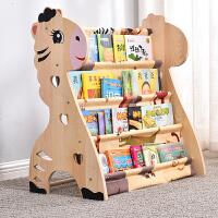 儿童书架简易女孩经济型绘本架子省空间实木落地幼儿园小学生