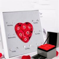 创意礼品一周纯银耳钉女气质韩国个性网红创意耳环坠送女友组合套装礼盒物 +