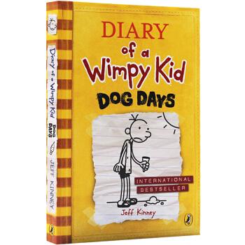 小屁孩日记4英文原版小说入门级 Diary of a Wimpy Kid book #4 Dog Days 小屁孩成长记 儿童课外励志校园 幽默漫画小说 章节桥梁书 漫画绘本