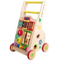 创意新款童车宝宝学步车手推车一岁儿童玩具婴儿学走路木质助步车0-1-3岁小孩