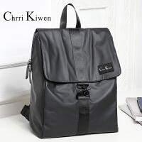 ChrriKiwen双肩包男时尚潮流背包大学生书包简约牛津布旅行包休闲