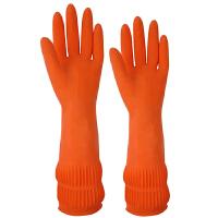 克林莱 克林莱橡胶手套 韩国进口家务手套 加长清洁手套多用家居手套 小号/S