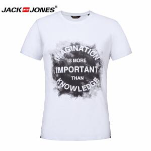 杰克琼斯/JackJones时尚百搭新款T恤 17新款字母-11-4-3-215301041020