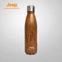 【特惠价】Jeep/吉普 户外抗腐蚀耐热不锈钢保龄球水杯水壶保温杯J823178505