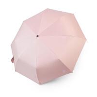 雨伞女折叠简约三折伞黑胶防晒遮阳晴雨伞男两用学生UPF50+太阳伞