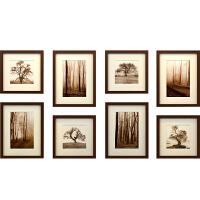 实木相框挂墙 婚纱照放大长方形创意画框客厅卧室简约像框