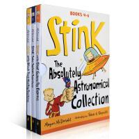 英文桥梁绘本Stink The Absolutely Astronomical Collection4-6