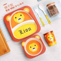 儿童餐盘卡通吃饭餐盘分隔格婴儿饭碗宝宝辅食碗叉勺子套装D13