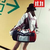 短途旅行包女手提行李包干湿分离大容量简约旅行袋轻便运动健身包