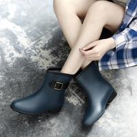 时尚雨鞋女成人雨靴女士马丁胶鞋中筒水靴防水鞋短筒防滑套鞋