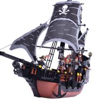 男孩子海盗船积木模型8-9-10岁男生力拼装6儿童玩具7