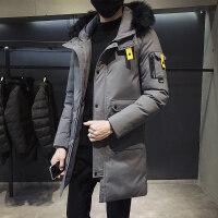 冬季修身外套男2018新款韩版潮流加厚棉衣男士中长款羽绒男装棉袄