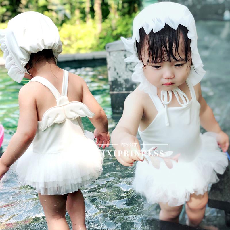 婴儿泳衣女童连体游泳衣儿童天使翅膀女孩小宝宝公主网纱裙泳装 发货周期:一般在付款后2-90天左右发货,具体发货时间请以与客服协商的时间为准