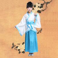 幼儿三字经古代国学服装古装儿童汉服男女夏装表演出书童古风演出服