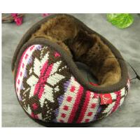 男女士冬季可爱耳包护耳捂耳暖耳罩  花毛线保暖耳套