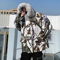 工装棉衣男中长款冬季加绒加厚保暖棉袄宽松休闲冬装棉服迷彩外套