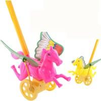 宝宝学步响铃手推飞机婴儿手推车学走路助步儿童单杆推推乐玩具