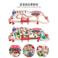 儿童玩具男孩4岁轨道车男童2-3-5岁小汽车停车场套装小孩宝宝玩具