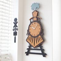 数字挂钟客厅个性静音木质艺术时钟卧室壁挂表