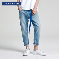 Lilbetter2019新款复古休闲九分裤男士牛仔裤