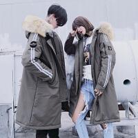 棉衣男冬季新款情侣宽松中长款韩版时尚百搭潮流男士外套