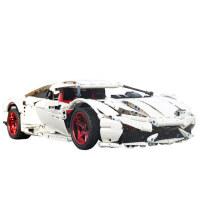 兰博基尼积木大型跑车赛车�犯叱赡旮吣讯绕�车模型拼装玩具双鹰